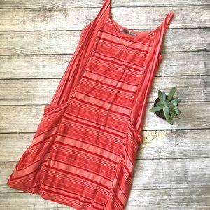 {Athleta} Red Breeze Striped Tank Casual Dress